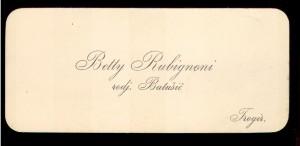 Betty Rubignoni rodj. Batušić