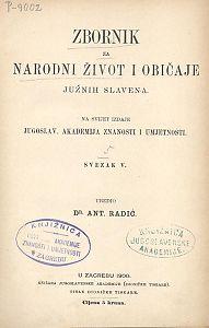 Knj. 5. (1900) : Zbornik za narodni život i običaje