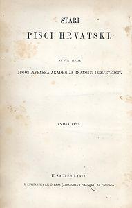 Pjesme Nikole Dimitrovića i Nikole Nalješkovića : Stari pisci hrvatski