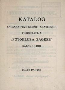 Katalog snimaka prve izložbe amaterskih fotografija Fotokluba Zagreb