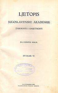 Za godinu 1938/39. Sv. 52 : Ljetopis