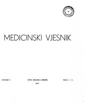 Sv. 7, br. 1, 2(1975) : Medicinski vjesnik
