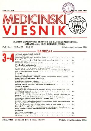 God. 15, br. 3-4(1983) : Medicinski vjesnik