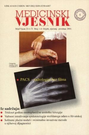 God. 33, br. 1-4(2001) : Medicinski vjesnik