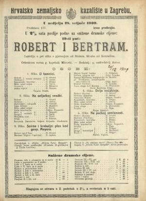Robert i Bertram : Lakrdija u pet slika s pjevanjem