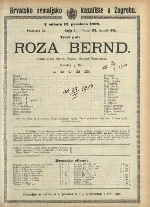 Roza Bernd Drama u pet činova