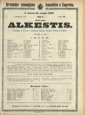 Alkestis Tragedija u tri čina s prologom