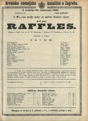 Raffles Gluma u četiri čina