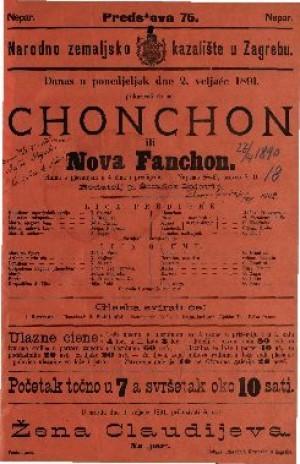 Chonchon ili Nova Fanchon Gluma s pjevanjem u 4 čina i predigrom / Napisao D'Ennery