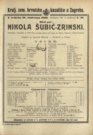 Nikola Šubić Zrinski Glazbena tragedija u tri čina (7 slika)