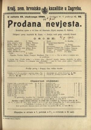 Prodana nevjesta Komična opera u tri čina / od Smetane