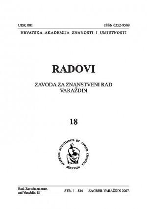 Knj. 18 (2007) : Radovi Zavoda za znanstveni rad Varaždin
