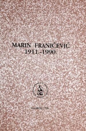 Marin Franičević : 1911.-1990. : Spomenica preminulim akademicima