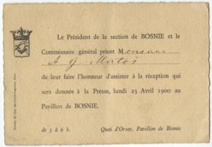 Le Président de la section de BOSNIE...