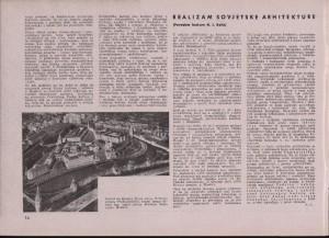 Realizam sovjetske arhitekture. (Povodom brošure N. J. Kolia) : Arhitektura