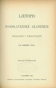 Za godinu 1893. Sv. 8 : Ljetopis