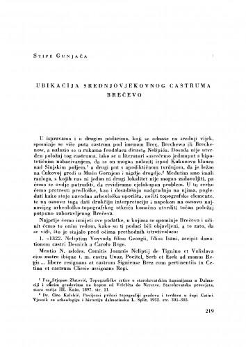Ubikacija srednjovjekovnog castruma Brečevo