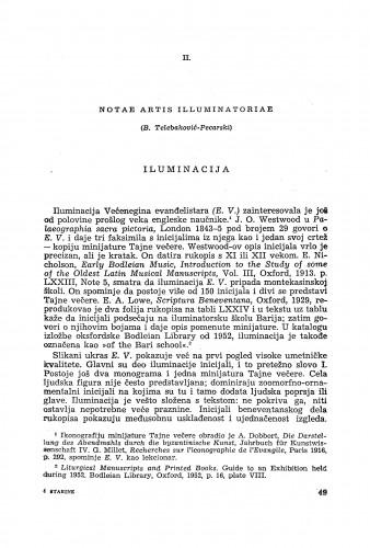 Notae artis illuminatoriae / Branka Telebaković-Pecarski