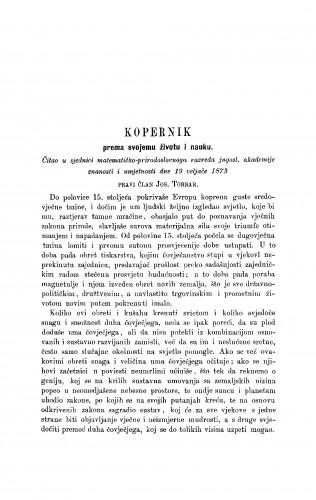 Kopernik prema svojemu životu i nauku : RAD