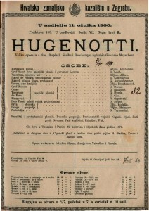 Hugenotti velika opera u 4 čina / uglazbio Giacomo Meyerbeer