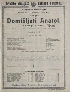 Domišljati Anatol vesela igra u tri čina / od Hennequina i Duvala  =  Le coup de fouet