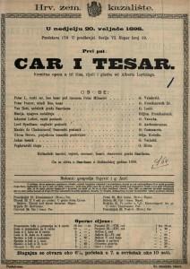 Car i tesar Komična opera u tri čina / glazba od Alberta Lortzinga