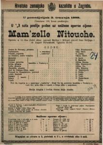 Mam'zelle Nitouche opereta u tri čina (četiri slike) / uglazbio Hervé