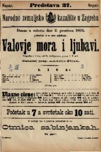 Valovje mora i ljubavi Tragedija u 5 čina / od Fr. Grillparzera