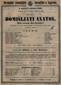 Domišljati Anatol : vesela igra u tri čina / od Hennequina i Duvala  =  Le coup de fouet