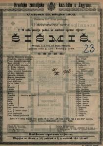Šišmiš : opereta u 3 čina / od Ivana Straussa