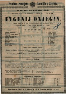 Evgenij Onjegin : lirska opera u tri čina / od Čajkovskoga