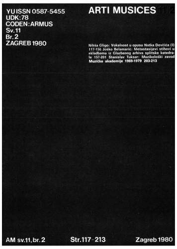 God 11(1980), br. 2 : Arti musices