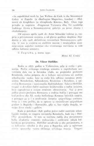 Dr. Viktor Hoffiller / G. Manojlović
