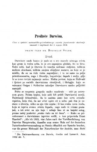 Predteče Darwina