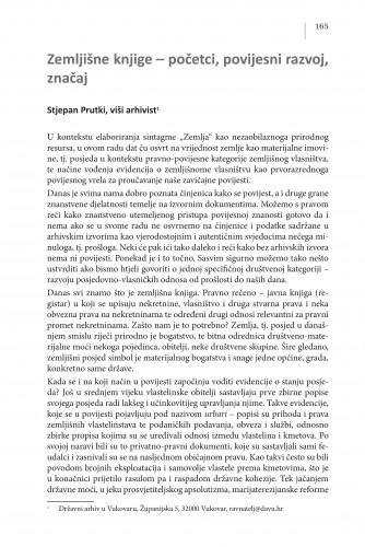 Zemljišne knjige -početci, povijesni razvoj, značaj : Posebna izdanja / Hrvatska akademija znanosti i umjetnosti, Centar za znanstveni rad u Vinkovcima