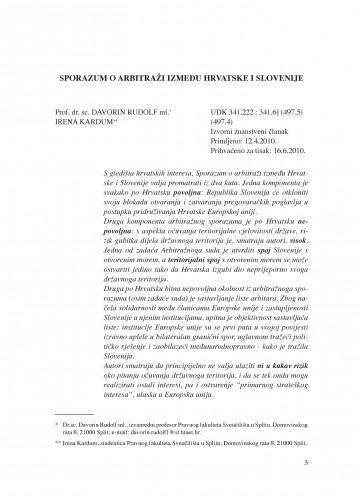 Sporazum o arbitraži između Hrvatske i Slovenije : Poredbeno pomorsko pravo