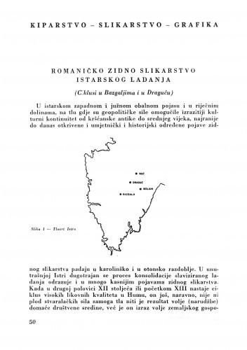 Romaničko zidno slikarstvo istarskog ladanja : Bulletin Zavoda za likovne umjetnosti Jugoslavenske akademije znanosti i umjetnosti