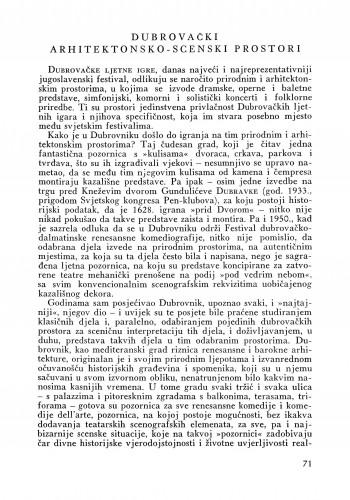 Dubrovački arhitektonsko-scenski prostori : Bulletin Instituta za likovne umjetnosti Jugoslavenske akademije znanosti i umjetnosti