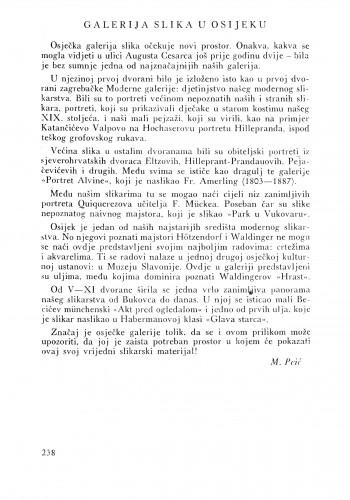 Galerija u Osijeku : Bulletin Instituta za likovne umjetnosti Jugoslavenske akademije znanosti i umjetnosti