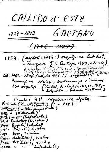 Callido d'Este Gaetano 1727-1813