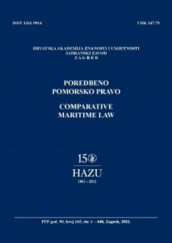 Br. 165(2011) = god. 50 : Poredbeno pomorsko pravo