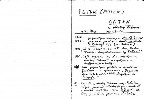 Petek (Pettek) Anton iz Malog Tabora