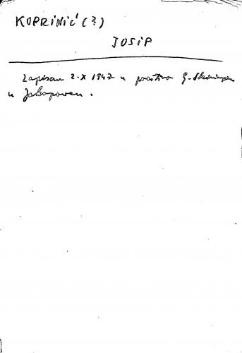 Koprinić (?) Josip