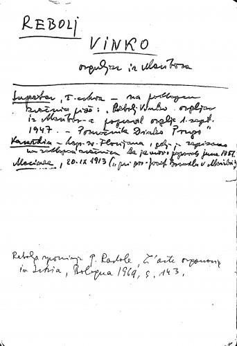 Rebolj Vinko orguljar iz Maribora