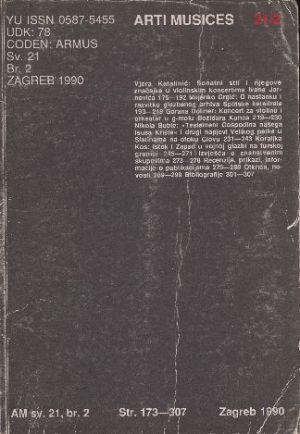 God. 21(1990), br. 2 : Arti musices