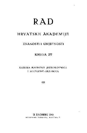 Knj. 126 (1943) : RAD