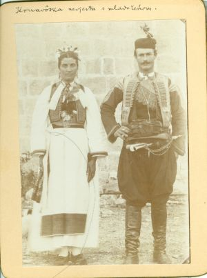 Konavoska nevjesta s mladoženjom [Radić, Antun (1868-1919) ]