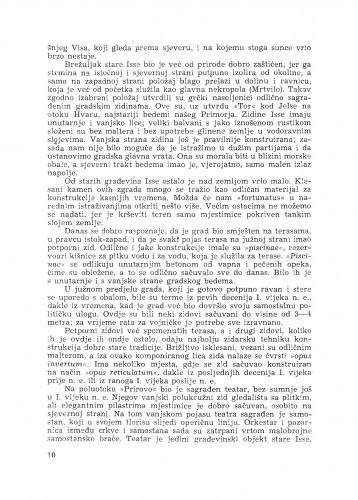 Arheološka istraživanja Grčke kolonije Isa na otoku Visu / M. Abramić