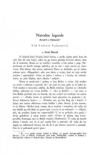 Narodne legende : (Konavli u Dalmaciji.) / V. Vuletić Vukasović