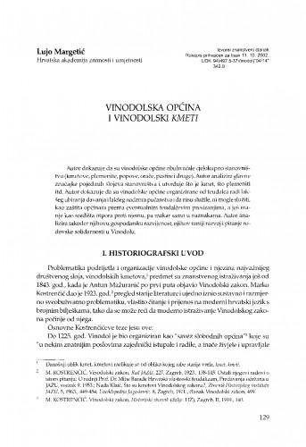 Vinodolska općina i vinodolski kmeti